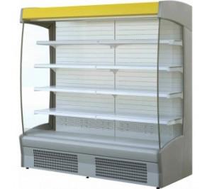 Vitrine réfrigérée Long..1250 murale ouverte - produits laitiers/charcuterie - zeus 1250mm - 1250x2025x880mm - 2710w