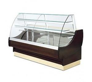 Vitrine rérigérée Long..2014 Ravel - 2 portes - vitre bombée - réfrigérée exposition avec réserve