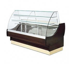 Vitrine rérigérée Long..2514 Ravel - 3 portes - vitre bombée - réfrigérée exposition avec réserve