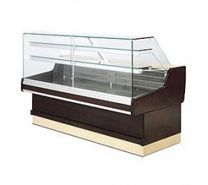 Vitrine rérigérée Long..1304 Ravel - exposition réfrigérée avec réserve neutre - vitre droite