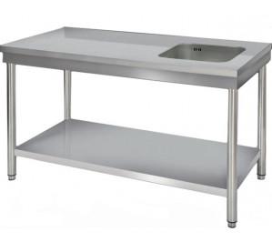 Table du chef 1600x700 avec bac d/g. centale