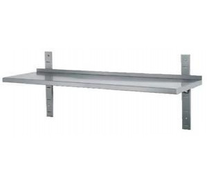 ETAGERE LG.1600 INOX SIMPLE SUR CREMAILLERE