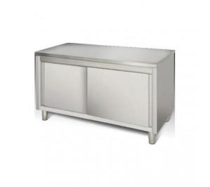 Table 1400x600 centrale dessous ferme porte coulissante