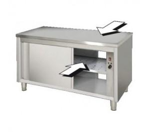 Table traversant 1600x700 dessous chauffant centrale