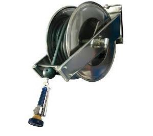 Douchette 15 metres simple jet à pression avec derouleur pour netoyage de sol cuisine