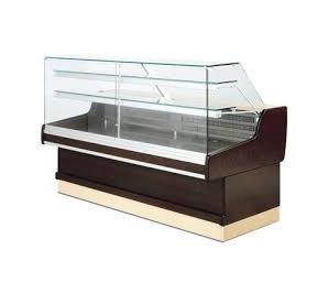 Vitrine rérigérée Ravel Long..1054 vitre droite exposition avec réserve réfrigérées 2 portes