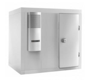Chambre froide positive 1400x2300 panneaux avec rayonnage avec groupe fournis