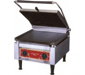 Grill Panini - SUPER PANINI GEANT - Superieure rainuree Inferieure LISSE - 410x620x340mm