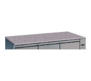 Option dessus granit pour tour pâtissier 4 portes - epaisseur 30mm