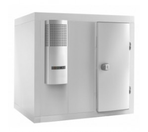 Chambre froide 2600 x 1400 - rayonnage et groupe - inclus le rayonnage complet
