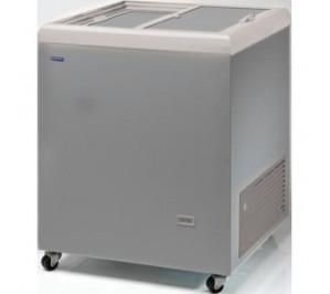 Congélateur 222 litres couvercle coulissant «opaque» aspect inox