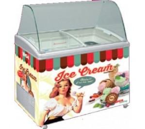 Conservateur de crème glacée 310 litres - vintage - 12°/-26°c