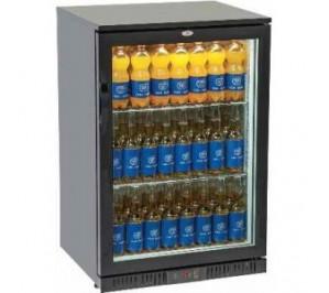 Arrière bar réfrigéré 1 porte vitrée 135 litres