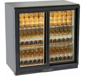 Arrière bar réfrigéré 2 porte vitrées 223 litres