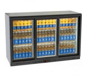 Arrière bar réfrigéré 3 porte vitrées 335 litres
