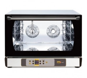 Four mixte 4 niveaux - 600 x 400 ou gn 1/1 - air pulse +système d'humidificateur -commande digital -