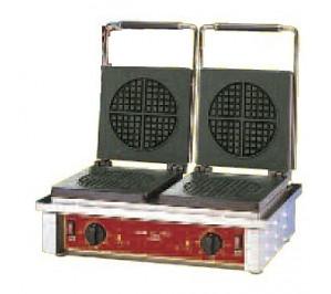 GAUFRIER ELECTRIQUE DOUBLE - GAUFRE RONDE - 550 X 440 X 230MM - 3.2KW