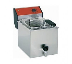 Friteuse 8 litres de comptoir avec vidange incorporée professionnelle - new super bar r friteuse -