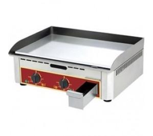 Plancha électrique - 600 x 400 - acier lisse au chrome dur