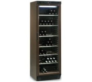 Caves à vins porte vitrée 370 litres /118 bouteilles (75ml) –marron –temp. avec 6°/ avec 18°