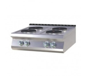 Plan de cuisson 4 plaques rondes électrique version top