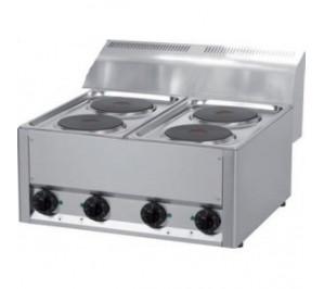 Plan de cuisson électrique 4 plaques rondes - 4 x 2 Kw - 660 x 600 x 290
