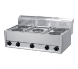Plan de cuisson électrique 5 plaques rondes 5 x 2 Kw
