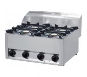 Plan de cuisson gaz 4 feux vifs 4x 4,5 Kw