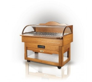 Buffet réfrigéré en bois - positif : avec 3 / avec 10°c - 1400x730x1250 mm - scaiola