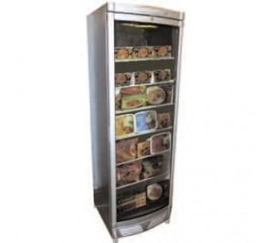 Armoire réfrigérée négative 400 litres - 1 porte vitrée - volume net : 345 l - temp : - 14°/-24°c