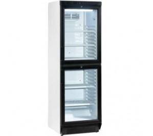 Armoire réfrigérée positive vitrée - 350 litres - 2 portillons - 295w - 595x600x1840mm