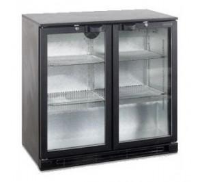 Arrière bar réfrigérée - 2 portes - 196 litres - h870 x p520 x l900 - température avec 2°c avec 10°c