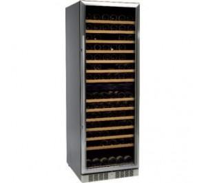 Cave à vin porte vitrée - 370 litres - laquée noir - 14 clayettes - 595 x 680 x 1800