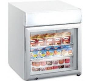 Mini-vitrine réfrigérée de comptoir - froid négatif - 12 - 24°c - 50 litres