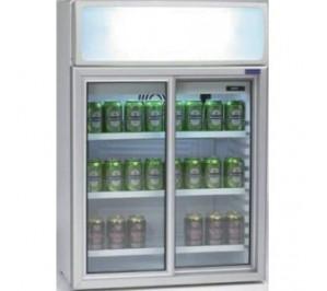Mini-vitrine réfrigérée de comptoir - froid positif - avec 4°c avec 10°c - 100 litres - 655 x 390 x 930