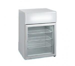 Mini-vitrine réfrigérée de comptoir froid negatif - 12 - 24°c - 100 litres
