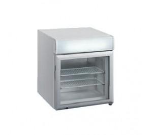 Mini-vitrine réfrigérée de comptoir froid negatif - 12 - 24°c - 50 litres