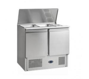 Saladette réfrigérée - groupe tropicalisé - 260 litres - 2 x GN 1/1 - 900x700x(857-877) - tefcold