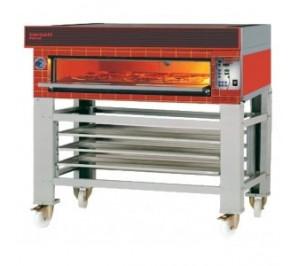 Four à pizza 6 pizzas électrique - 1 chambre : 930x630x170 mm - tornati forni