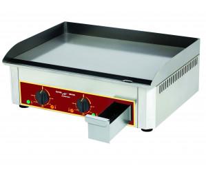 Plancha électrique - 600 x400 - acier lisse