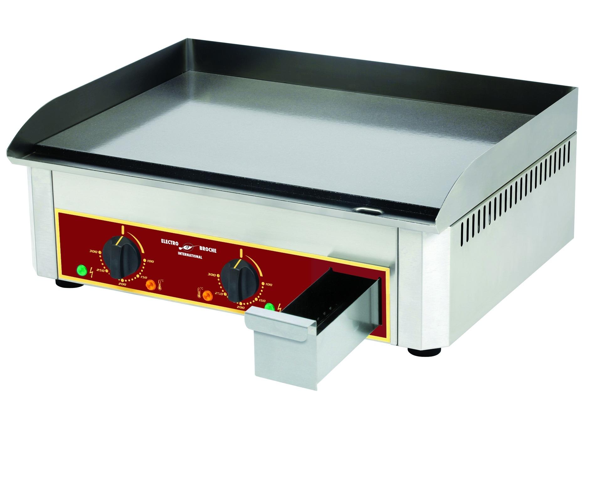Choisir Une Plancha Professionnelle plancha professionnelle - Électrique - plan de cuisson acier lisse - 900 x  400