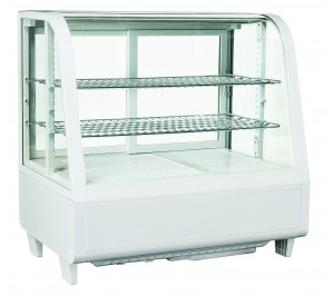 Vitrine réfrigérée de comptoir blanche - 100 litres