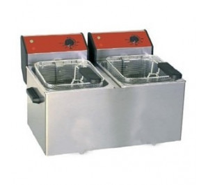 FRITEUSE DOUBLE 2X5 LITRES A POSER