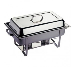 Chafing dish gastronorme GN 1/1 - couvercle poli brillant rabattable - chafing dish professional de qualite extra
