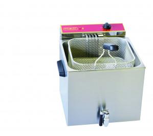 Friteuse 8 litres avec robinet de vidange - électrique