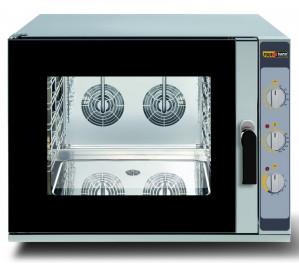 Four mixte 4 niveaux - pâtissier 600 x 400 - air pulsé - vapeur - baker chef manuel - materiel professionnel