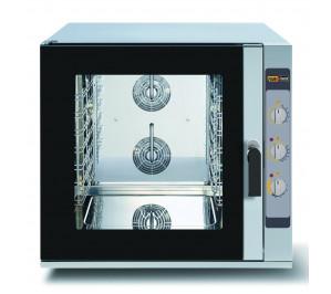Four mixte 6 niveaux pâtissier 600 x 400 - air pulsé avec vapeur - commande manuel