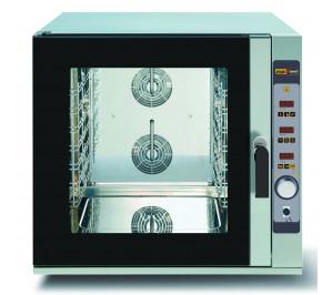 Four mixte 6 niveaux pâtissier 600 x 400 - air pulsé avec vapeur - commande digitale -