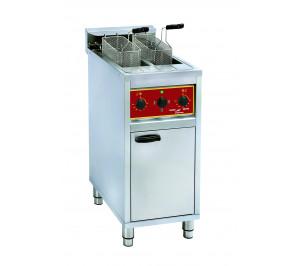 Friteuse 2 x 10 litres électrique sur coffre monobloc
