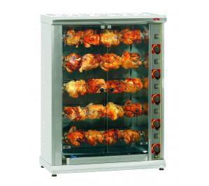 Rotissoire 5 broches 20/25 poulets gaz
